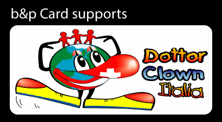 b&p card supports Dottor Clown Italia - Clowntheraphy